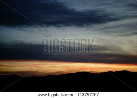 Twilight over the mountains