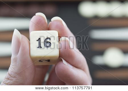 Playing Games Series - Rolling Backgammon Dice - No 16