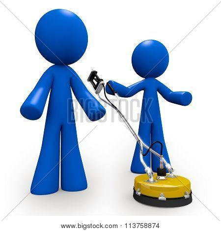 Concrete Cleaners 3D Blue Men