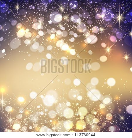 Shining bokeh illustration. Vector illustration