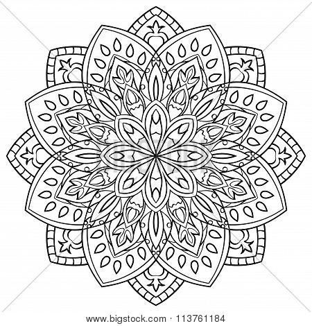 Mandala For Coloring Book.