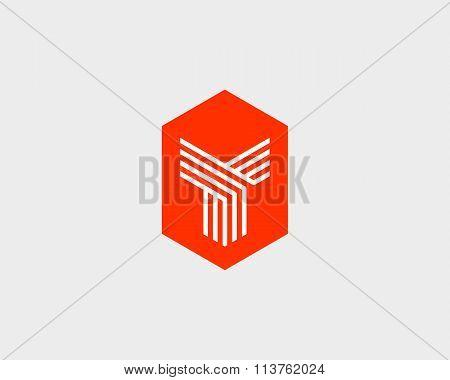 Letter Y logo icon vector design. Creative line symbol.