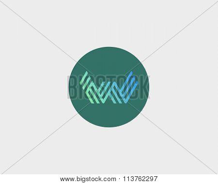 Letter W logo icon vector design. Creative line symbol.