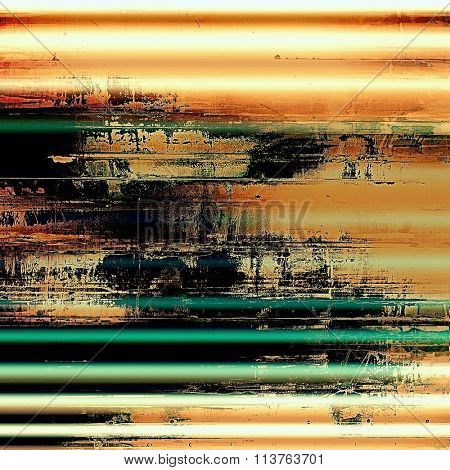 Abstract distressed grunge background. With different color patterns: yellow (beige); brown; black; red (orange); green