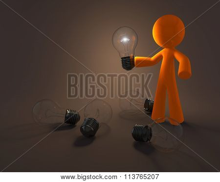 Orange Man Bright Idea