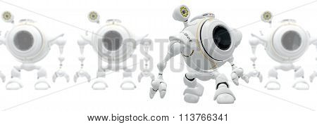 Robot Web Cam Birth Of Technology Concept