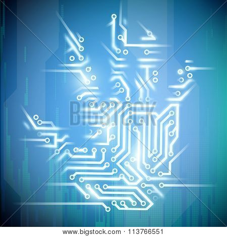 Electrical Circuit. Stock Illustration.
