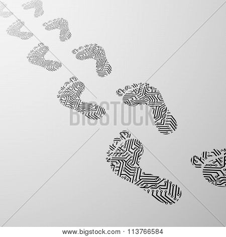 Human Foot. Stock Illustration.