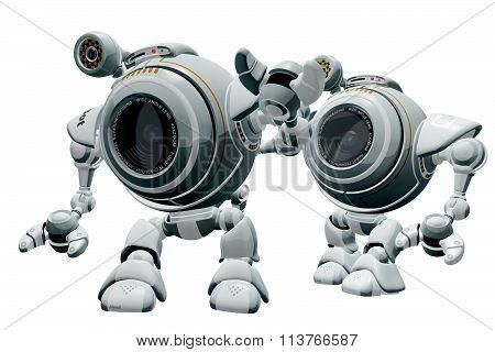 Robot Web Cam In Line