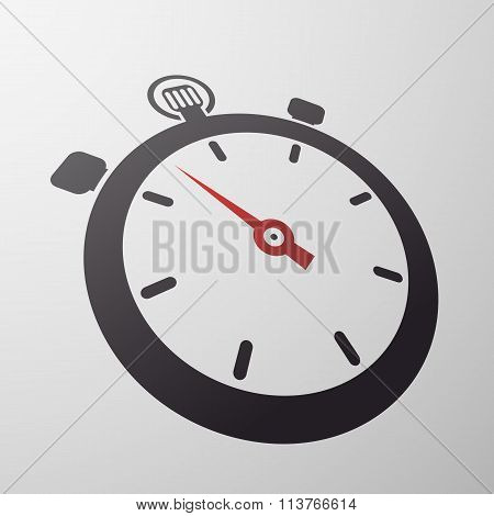 Sport Stopwatch. Stock Illustration.