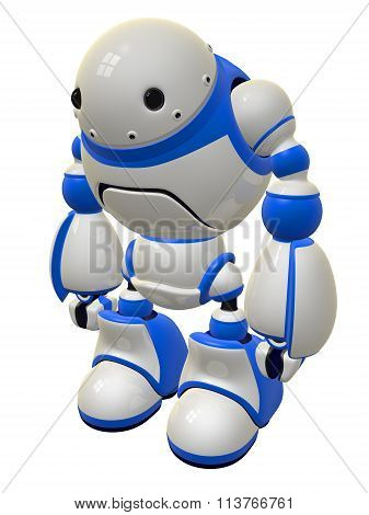 Cute Security Robot Standing Ready