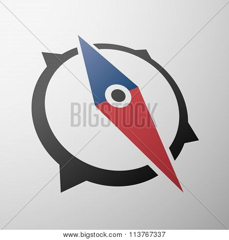 Icon Compass. Envelope. Stock Illustration.