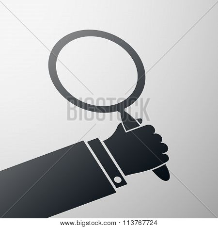 Magnifying Glass. Stock Illustration.
