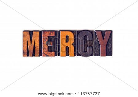 Mercy Concept Isolated Letterpress Type