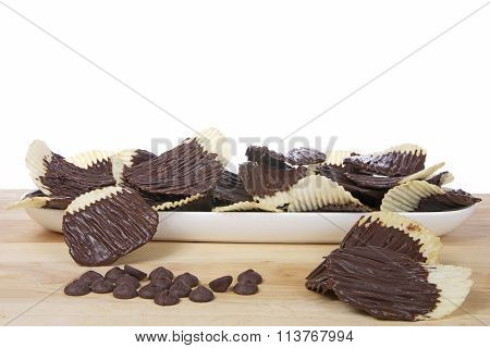Chocolate Covered Potato Chips. Sweet and Salty. Fad or trend.
