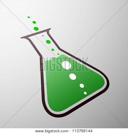 Chemical Beaker. Stock Illustration.