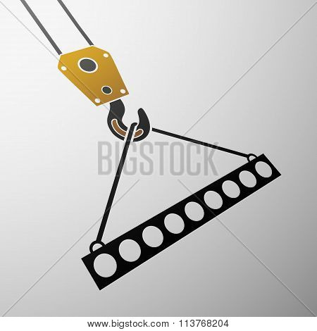 Industrial Hook. Stock Illustration.