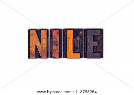 Nile Concept Isolated Letterpress Type