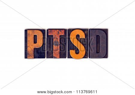 Ptsd Concept Isolated Letterpress Type