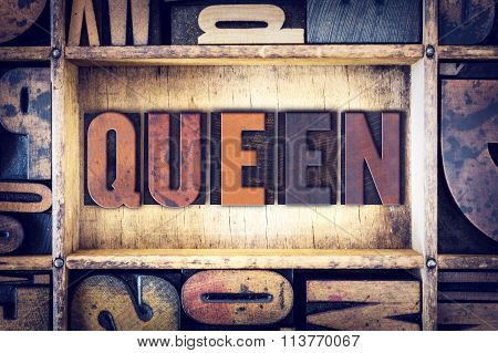 Queen Concept Letterpress Type