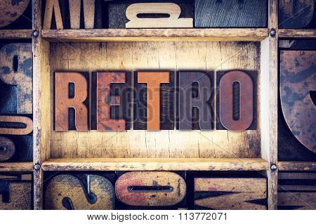 Retro Concept Letterpress Type