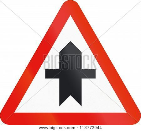 Road Sign Used In Spain - Intersection With Priority