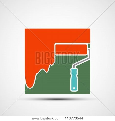 Paint Roller. Stock Illustration.