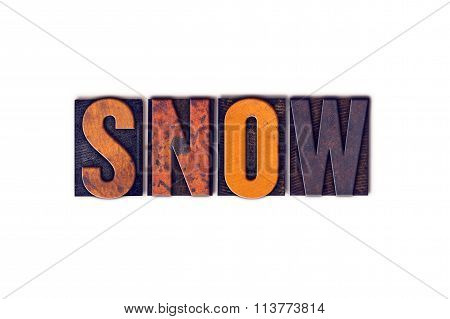 Snow Concept Isolated Letterpress Type