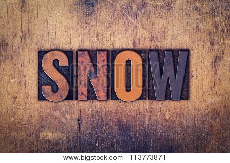Snow Concept Wooden Letterpress Type