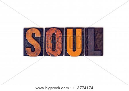 Soul Concept Isolated Letterpress Type