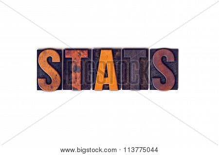Stats Concept Isolated Letterpress Type