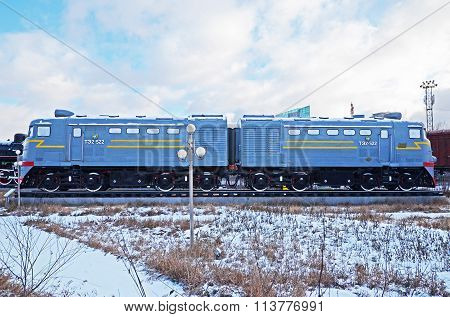 Ulaanbaatar, Mongolia-dec,02 2015: Locomotive Te2-522. Museum Of Railway Equipment In Ulaanbaatar. M