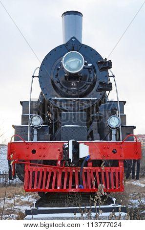 Ulaanbaatar, Mongolia-dec,02 2015: Steam Locomotive Series El-266. Museum Of Railway Equipment In Ul