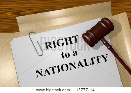 Right To A Nationality Concept
