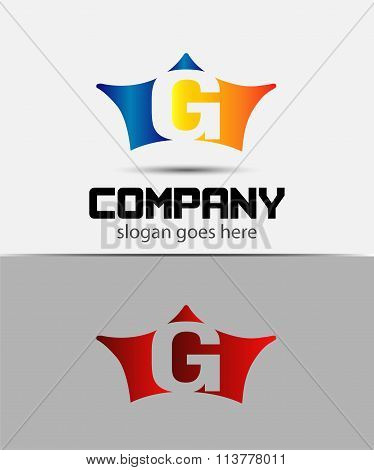 Sign the letter G Branding Identity crown logo design template