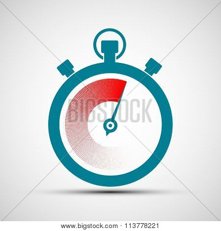 Logo Stopwatch. Stock Illustration.