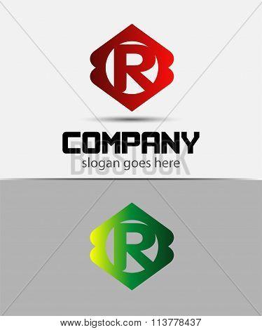 Letter R Logo Design.Creative Symbol of letter R