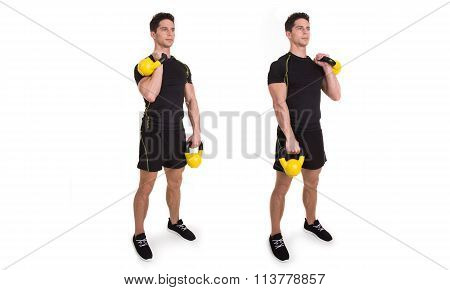 Kettlebell, Reciprocal Clean, Exercise