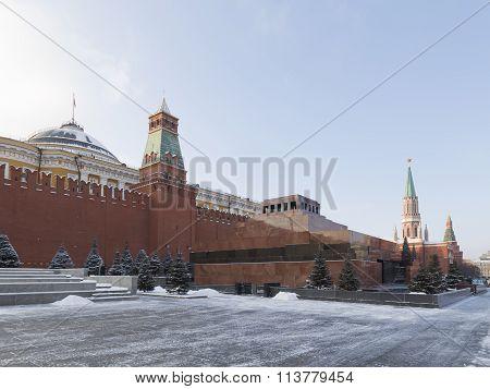 Lenin's Mausoleum Moscow Winter