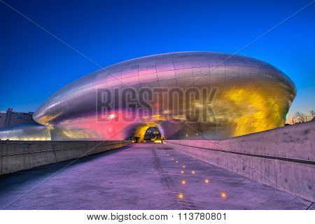Dongdaemun Design Plaza In Seoul, South Korea