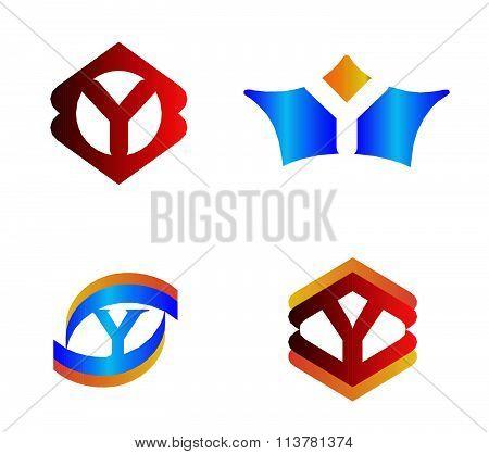 Letter Y set Alphabetical Logo Design Concepts