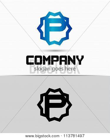 Letter p Alphabetical Logo Design Concepts