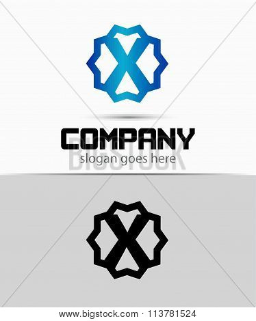Letter x Alphabetical Logo Design Concepts
