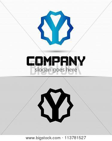 Letter y Alphabetical Logo Design Concepts