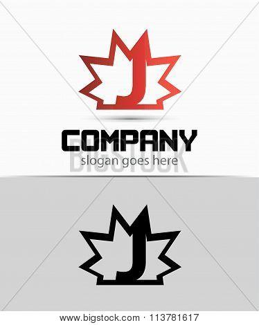 Creative letter J icon