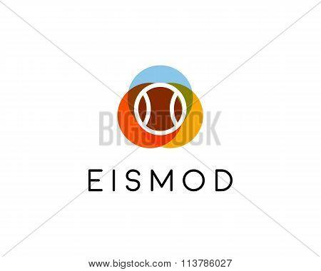Abstract tennis golf logo design. Game team creative symbol. Universal sport vector icon. Play ball