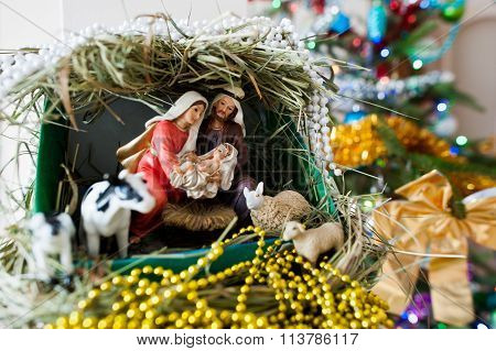 Virgin Mary Gave Birth To Jesus, And It Lies In The Crib, Christmas