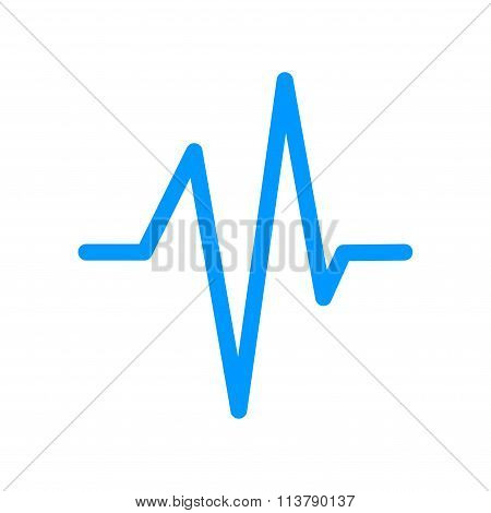 Heart Beat, Cardiogram, Medical Icon - Vector
