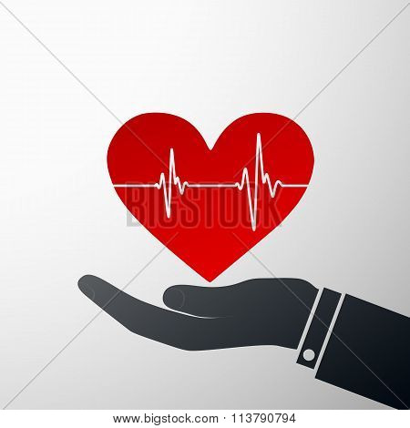 Logo Heart. Stock Illustration.
