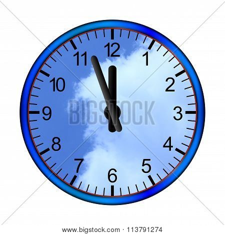 Blue Clock Clouds